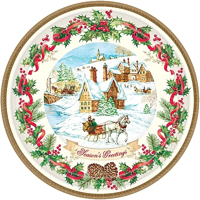 Amscan Holiday Magic Paper Plate, 7