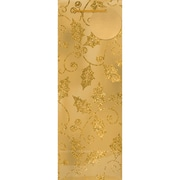 """Amscan Holly Foil Bottle Bag with Glitter, Gold, 14"""" x 5"""" x 5"""", 15/Pack (160120)"""