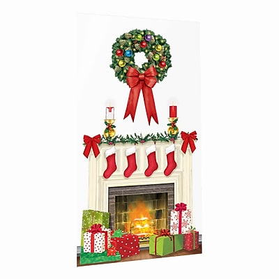 "Amscan Holiday Hearth Scene Setter, 65"" x 33.5"", 5/Pack (670229)"