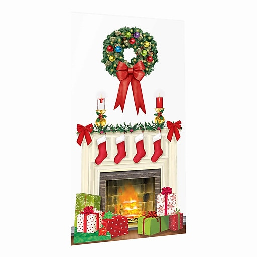 """Amscan Holiday Hearth Scene Setter, 65"""" x 33.5"""", 5/Pack (670229)"""