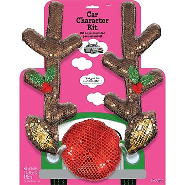 Amscan Glitzy Reindeer Car Kit, (397640)