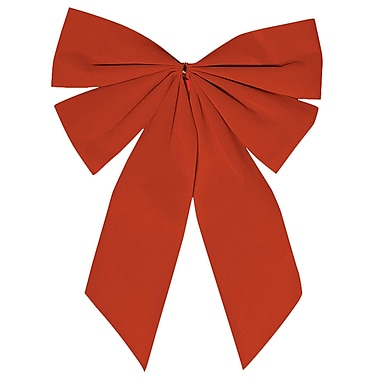 Amscan Flocked Bow, Red, 15