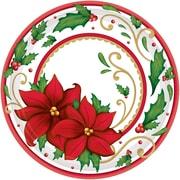 "Amscan Winter Botanical Paper Plate, 9"" x 9"" (751177)"