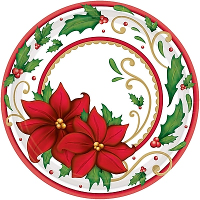 Amscan Winter Botanical Paper Plate, 9