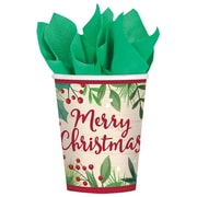 Amscan Merry Holly Day Paper Cup, 9oz, 5/Pack, 8 Per Pack (581680)