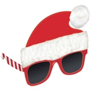 "Amscan Santa Hat Glasses, 5"" x 5.5"", 2/Pack (397529)"
