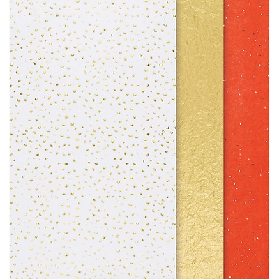 Amscan Christmas Metallic Tissue Paper, 20