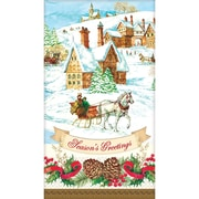 "Amscan Holiday Magic Guest Towel 7.75"" x 4.5"", 3/Pack, 36 Per Pack (831685)"