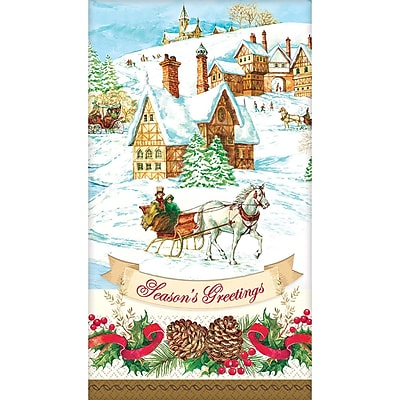 Amscan Holiday Magic Guest Towel 7.75