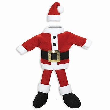 10IN Santa Suit Wine Bottle Cover, 10″ x 5″, 3/Pack (160268)