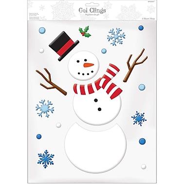 Amscan Snowman Gel Cling, 3/Pack (220222)