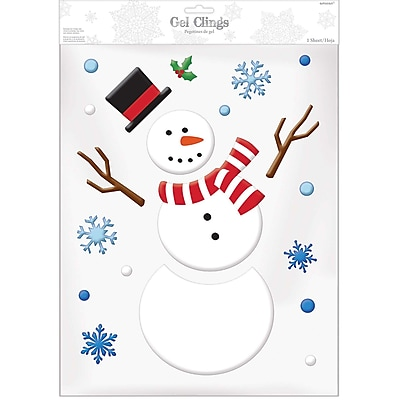 Amscan Snowman Gel Cling, 3/Pack (220222)