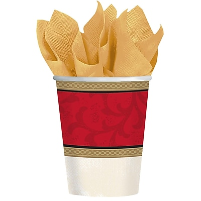 Amscan Classic Christmas Tree Paper Cup, 9oz, 5/Pack, 8 Per Pack (589900) 2536864