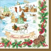 "Amscan Holiday Magic Dinner Napkin, 7.75"" x 7.75"", 3/Pack, 36 Per Pack (821685)"