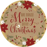 "Amscan Merry Little Christmas Kraft Plate, 10.5"" x 10.5"", 3/Pack, 18 Per Pack (721557)"