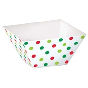 """Amscan Christmas Square Paper Bowls, 1.75"""" x 3.3"""" x 3.3"""", 2/Pack, 24 Per Pack (400129)"""