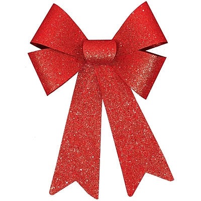 Amscan Glitter Bow, Red, 13