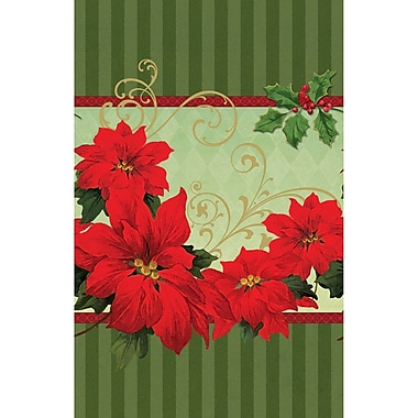 Amscan Vintage Poinsettia Plastic Tablecover, 54