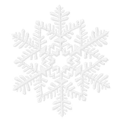 Amscan Glitter Snowflake Decoration, White, Plastic, 6.5
