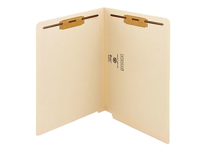 Smead End Tab Classification Folders, Shelf-Master Reinforced Straight-Cut Tab, Letter Size, Manila, 50/Box (34116)