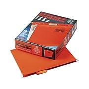 Pendaflex Reinforced Hanging File Folders, 1/5 Tab, Letter Size, Orange, 25/Box (PFX 4152 1/5 ORA)