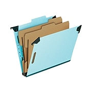 Pendaflex Classification Hanging File Folders, Letter Size, Light Blue, 10/Box (PFX 59252)