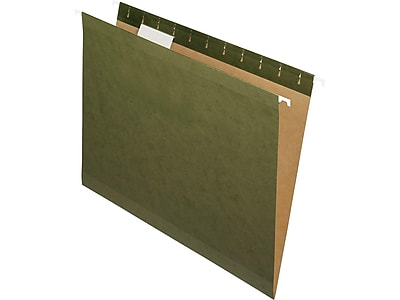 Pendaflex 100% Recycled Hanging File Folders, Letter Size, Standard Green, 25/Box (PFX RCY4152 1/5 SGR)
