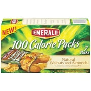 Emerald Nuts 100 Calorie Packs, Walnuts and Almonds, 0.56 Oz., 7/Box (54325)