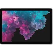 """Microsoft Surface Pro 6 12.3"""" Tablet, Core i7 8650U/1.9 GHz, 256 GB SSD, 8 GB RAM, Platinum (KJU-00001)"""