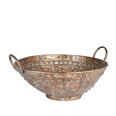 Household Essentials Large Decorative Bowl, Large, Bronze (9739-1)