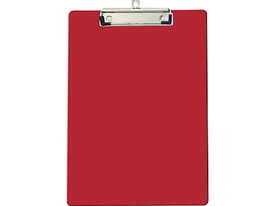 OfficeMate Plastic Clipboard, Red (83043)