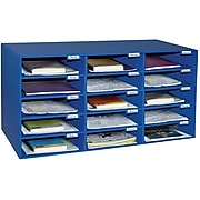 "Pacon Classroom Keepers 16.38""H x 31.5""W Corrugated Mailbox, Blue, Each (001308)"