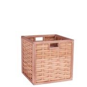 Household Essentials Poplar Wicker Storage Box, Natural (2189-1)
