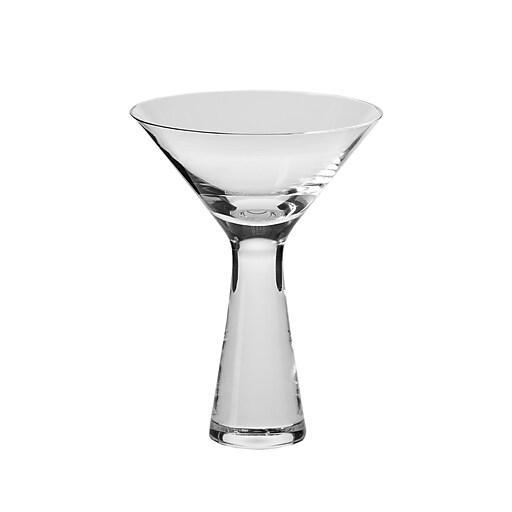 KROSNO Kai 8 oz. Martini Glasses, Handmade,  Set of 4 (K772-1)