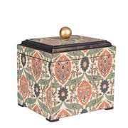 Household Essentials Large Vintage Keepsake Box, Vintage Green and orange on cream (9767-1)