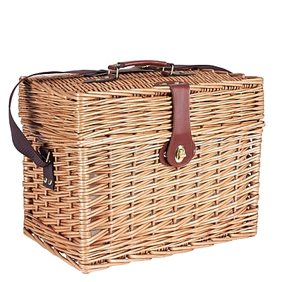 Household Essentials Walden Picnic Basket with Picnic Blanket, Natural (ML-2650)