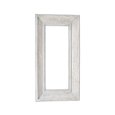 Household Essentials Rectangle Wall Mirror, Light Ash Wood (2374-1)