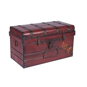 Household Essentials Large Steamer Trunk, Red (9517-1)