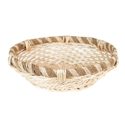 Household Essentials Large Decorative Round Rope and Willow Basket, Natural (ML-7042)