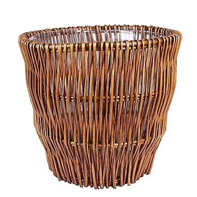Household Essentials Medium Reed Willow Waste Basket,
