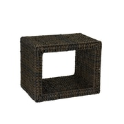 Household Essentials Havana Resin Wicker Indoor Outdoor End Table, Espresso (ML-5032)