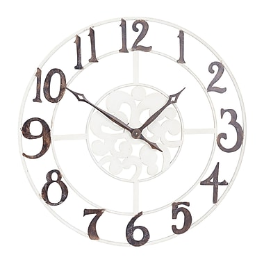 Household Essentials Large Numbers White and Black Wall Clock (2378-1)