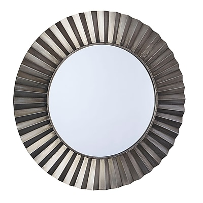 Household Essentials Bronze Sunburst Wall Mirror, Bronze (2370-1)
