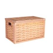 Household Essentials Poplar Wicker Storage Chest, Small, Natural (ML-5670)