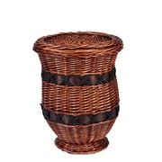 Household Essentials Small Willow Poplar Wicker Urn Table (ML-2255)