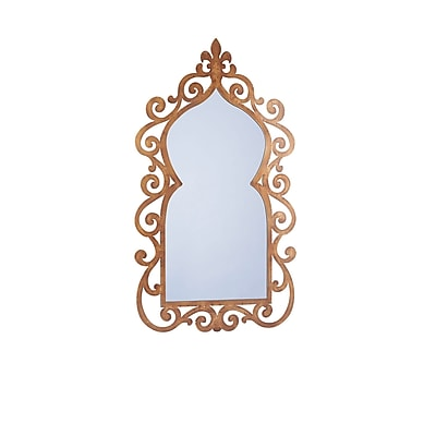 Household Essentials Scrolled Wall Mirror, Bronze (2352-1)