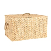Household Essentials Spring Wicker Storage Trunk, Large, Natural (ML-6615)