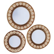 Household Essentials Gold Sunburst Mirror Set, 3 Piece Set, Gold (2380-1)