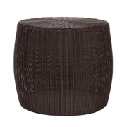 Household Essentials Resin Wicker Side Table, Brown (ML-5002)
