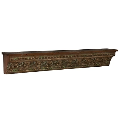 Household Essentials Decorative Wall Shelf with Painted Banana Skin, Brown and Black (2350-1)